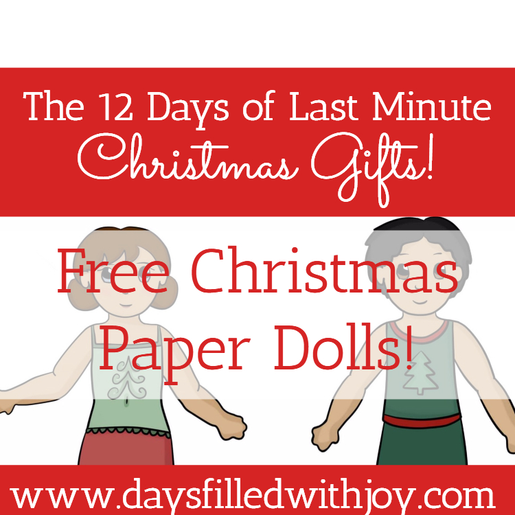 christmas paper dolls days filled joy